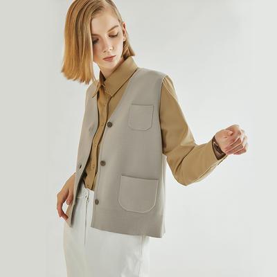 Sleeveless Knit Jacket Sweater YR-19SS28