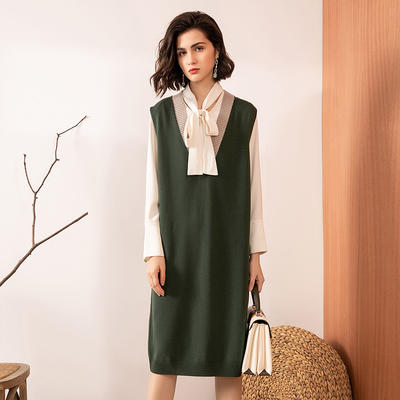 Long sleeveless knit dress