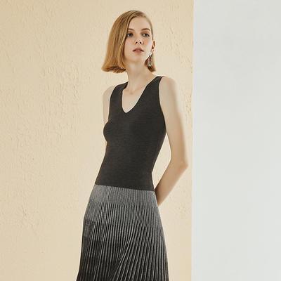 Customized Women Sleeveless Knit Sweater  YR-19SS65