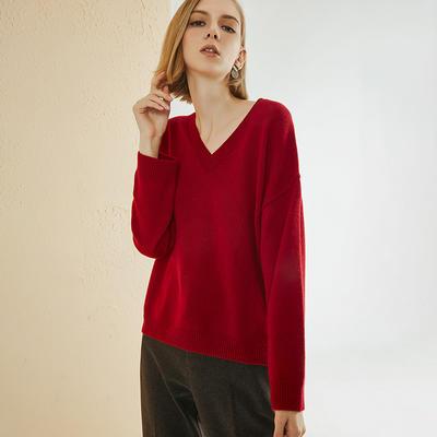 V Neck Women Sweater Tops YR-19SS69