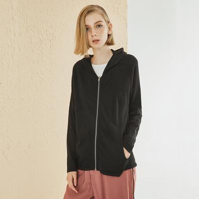 Zipper Hooded Cardigan Sweater Coat