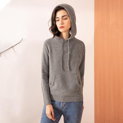 Wool Sport Sweater Knit Jumper With Hood