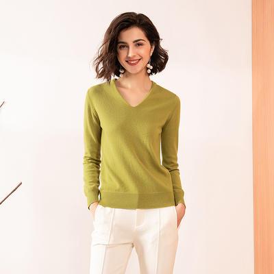 Custom V-neck Cashmere Sweater